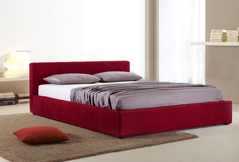 Minimalistiško stiliaus miegamojo lova SALVADOR